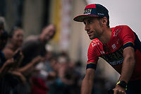 former TdF winner Vincenzo Nibali (ITA/Bahrain-Merida) at the Team presentation in La Roche-sur-Yon<br /> <br /> Le Grand D&eacute;part 2018<br /> 105th Tour de France 2018<br /> &copy;kramon