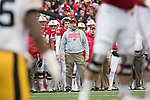 Wisconsin Badgers Head Coach Paul Chryst looks on during an NCAA College Big Ten Conference football game against the Iowa Hawkeyes Saturday, November 11, 2017, in Madison, Wis. The Badgers won 38-14. (Photo by David Stluka)