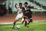 China PR vs Qatar during their Asian Cup 2000 quarter-finals match in Lebanon. Photo by Agence SHOT for WSG