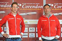 SCHAATSEN: HEERENVEEN: Thialf, 03-05-2013, Persconferentie Team Corendon, Jan Blokhuijsen, trainer/coach Jan van Veen, ©foto: Martin de Jong