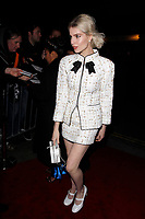 LONDON, ENGLAND - FEBRUARY 09 :  Lucy Boynton arrives at the Charles Finch and Chanel pre-BAFTA party at Loulou's on February 09, 2019 in London, England.<br /> CAP/AH<br /> &copy;Adam Houghton/Capital Pictures