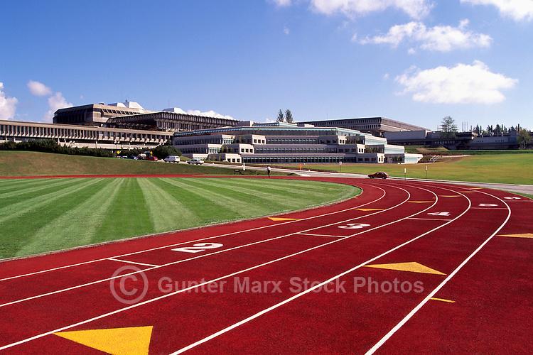 Burnaby, BC, British Columbia, Canada - Terry Fox Field, Simon Fraser University (SFU) Campus, Running Track & Field Lanes, Sports