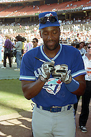 Toronto Blue Jays Joe Carter signs an autograph during the Major League Baseball All-Star Game break at Jack Murphy Stadium  in San Diego, California.  (MJA/Four Seam Images)