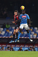 Andrea Pinamonti of Genoa and Kalidou Koulibaly of Napoli compete for the ball<br /> Napoli 09-11-2019 Stadio San Paolo <br /> Football Serie A 2019/2020 <br /> SSC Napoli - Genoa CFC<br /> Photo Cesare Purini / Insidefoto