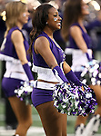 TCU cheerleaders before the game between the Oregon State Beavers and the TCU Horned Frogs at the Cowboy Stadium in Arlington,Texas. TCU defeated Oregon State 30-21.