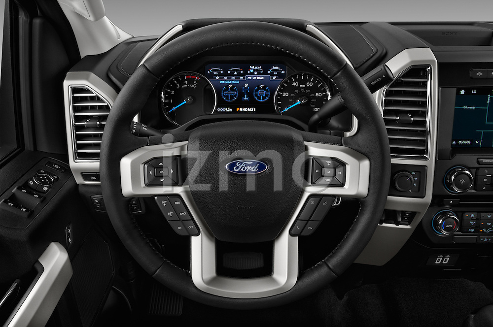 Car pictures of steering wheel view of a 2017 Ford F-250 Lariat-Crew-Cab 4 Door Pickup Steering Wheel