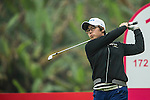 Jeong Min Cho of South Korea tees off at 13th hole during Round 3 of the World Ladies Championship 2016 on 12 March 2016 at Mission Hills Olazabal Golf Course in Dongguan, China. Photo by Lucas Schifres / Power Sport Images