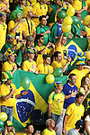 01 July 2006: Brazilian fans, pregame. France defeated Brazil 1-0 at Commerzbank Arena in Frankfurt, Germany in match 60, a Quarterfinal game of the 2006 FIFA World Cup.