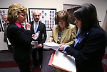 Nevada Assemblywoman Marilyn Dondero Loop, Senate Majority Leader Mo Denis, both D-Las Vegas, and Sen. Debbie Smith, D-Sparks, work with staff at the Legislative Building in Carson City, Nev., on Monday, Feb. 25, 2013..Photo by Cathleen Allison