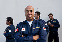 Portrait of Shinichi Kamijo, the co-founder of Gishin Gokoku-kai nationalist group attending the commemorations of the end of the Pacific War on August 15th at Tokyo controversial Yasukuni Shrine, Kudanshita Tokyo, Japan. Thursday August 15th 2013