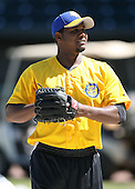 April 17, 2009:  Pitcher Jose Ceda of the Jacksonville Suns, Southern League Class-AA affiliate of the Florida Marlins, during a game at the Baseball Grounds of Jacksonville in Jacksonville, FL.  Photo by:  Mike Janes/Four Seam Images