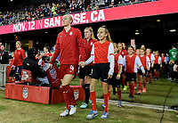 San Jose, CA - Sunday November 12, 2017: Becky Sauerbrunn during an International friendly match between the Women's National teams of the United States (USA) and Canada (CAN) at Avaya Stadium.