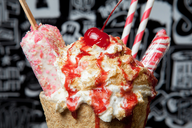 The Strawberry Short Cake Shake from the menu of trucks that will rove the city streets this summer serving milkshakes. A third truck is in progress with plans to be stationed in the Hamptons.<br /> <br /> Danny Ghitis for The New York Times