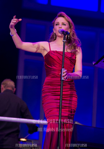 Kylie Minogue on stage at The 2012 BBC Proms in the Park, Hype Park, London. 08/09/2012. Simon Burchell / Featureflash