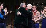 "Harvey Fierstein and Richie Jackson with cast  during the Broadway Opening Night Curtain Call for ""Torch Song"" at the Hayes Theater on November 1, 2018 in New York City."