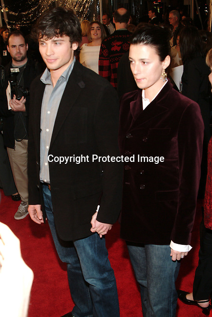 Tom Welling &amp; wife Jamie<br />