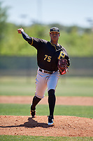 Pittsburgh Pirates pitcher Sergio Cubilete (75) during a Minor League Spring Training game against the Philadelphia Phillies on March 23, 2018 at the Carpenter Complex in Clearwater, Florida.  (Mike Janes/Four Seam Images)
