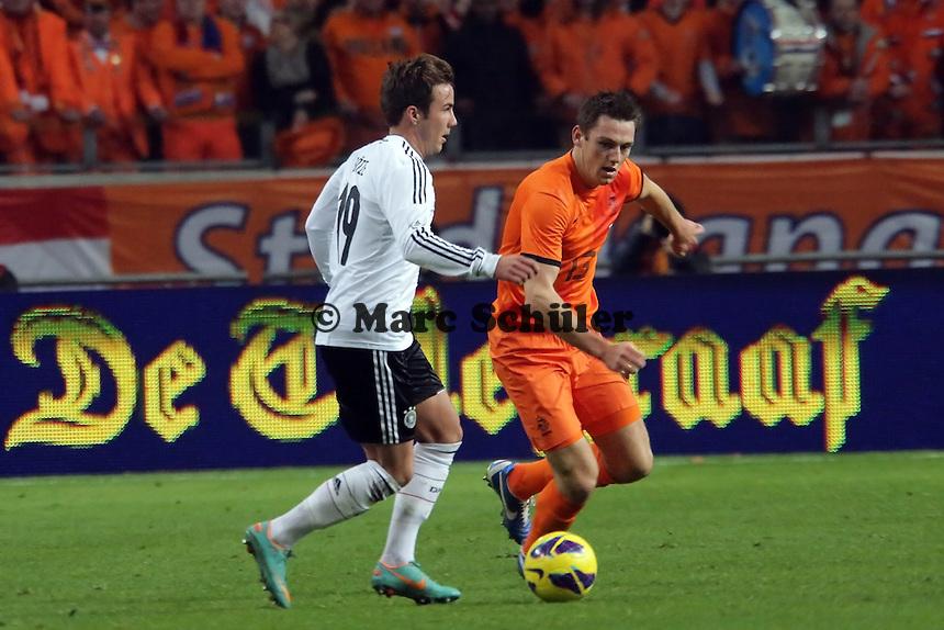 Mario Goetze (D) gegen Stefan de Vrij (NL