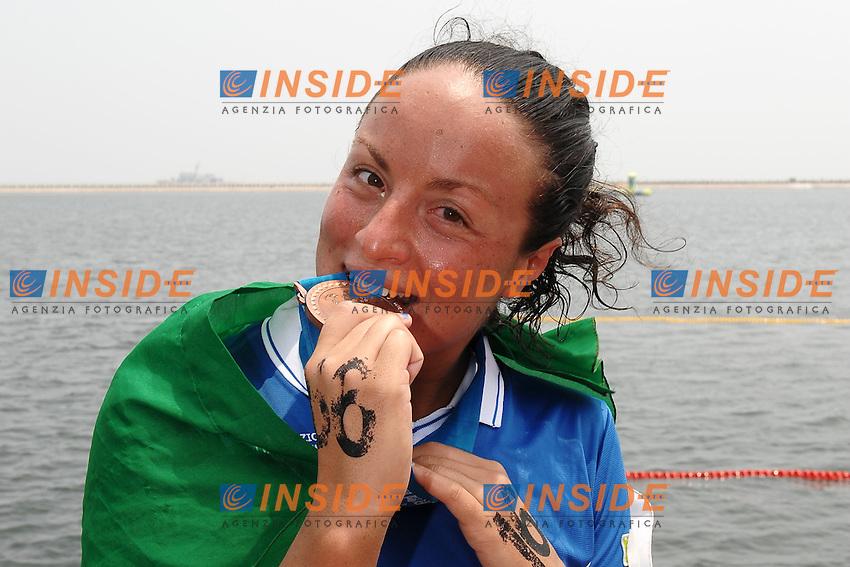 Alice Franco medaglia di bronzo nella 25 Km.Women's 25Km Open Water .Shanghai 232/7/2011 .14th FINA World Championships.Foto Andrea Staccioli Insidefoto