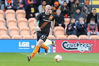 Charlie Clough of Barnet during the Sky Bet League 2 match between Barnet and Grimsby Town at The Hive, London, England on 29 April 2017. Photo by David Horn.