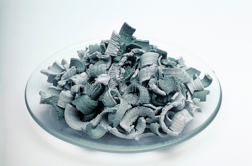 OXIDIZED CALCIUM TURNINGS<br /> Alkaline Earth Metal<br /> Reagent grade turnings. Atomic Weight 40.08.  Calcium is a rather soft, gray, metallic element that can be extracted by electrolysis from calcium fluoride.