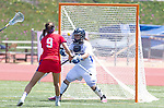 Torrance, CA 05/11/13 - Issi Sherren (Agoura #27) and Courteney Damore (Los Alamitos #9) during the 2013 Los Angeles/Orange County Championship game between Los Alamitos and Agoura.  Los Alamitos defeated Agoura 19-4.