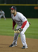 August 30, 2004:  Brian Daubach of the Pawtucket Red Sox, Triple-A International League affiliate of the Boston Red Sox, during a game at Frontier Field in Rochester, NY.  Photo by:  Mike Janes/Four Seam Images