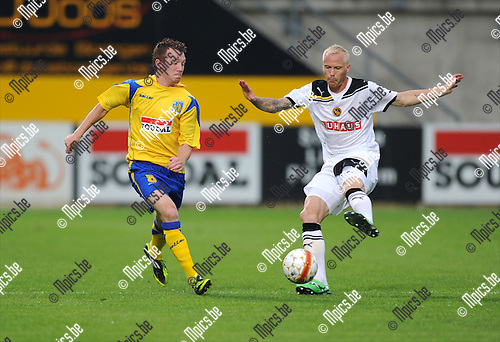 2011-08-04 / Voetbal / season 2011-2012 / Uefa Europa League, third qualifying round / KVC Westerlo - BSC Young Boys / Christian Brüls (L, West) with Alexander Farnerud (YB)..Foto: mpics