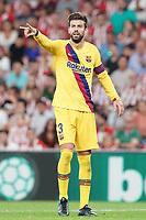 FC Barcelona's Gerard Pique during La Liga match. August 16,2019. (ALTERPHOTOS/Acero)<br /> Liga Spagna 2019/2020 <br /> Atletico Bilbao - Barcellona<br /> Foto Alterphotos / Insidefoto <br /> ITALY ONLY