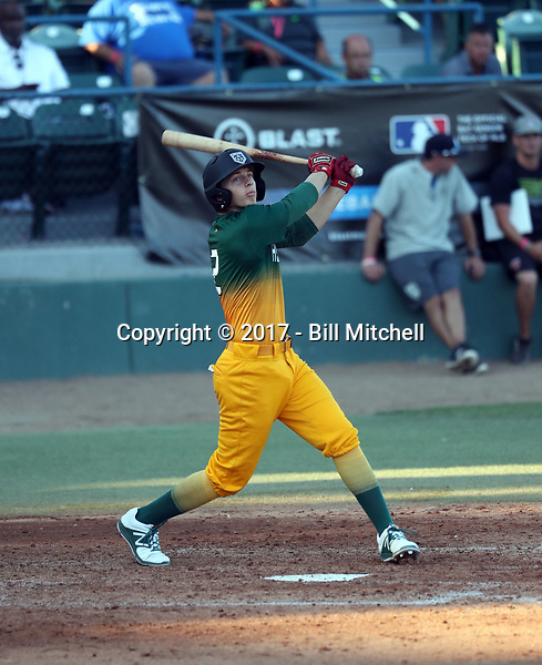 Zachary Morgan plays in the 2017 Area Code Games on August 6-10, 2017 at Blair Field in Long Beach, California (Bill Mitchell)