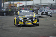 Washington, DC - June 22, 2014: Tanner Foust drives the #34 Volkswagen Polo R into the straightway after Turn 10 during the final supercar race of Red Bull Global Rallycross on the grounds of RFK Stadium in the District of Columbia, June 22, 2014.  (Photo by Don Baxter/Media Images International)