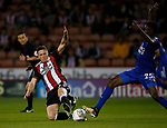 John Lundstram of Sheffield Utd  tackles Wilfred Ndidi of Leicester City during the Carabao Cup, second round match at Bramall Lane, Sheffield. Picture date 22nd August 2017. Picture credit should read: Simon Bellis/Sportimage
