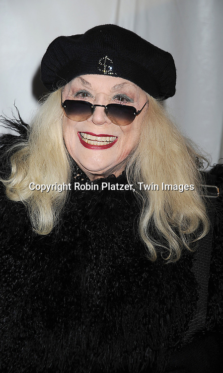 """Sylvia Miles..attending The New York Premiere of """"Doubt"""" starring ..Meryl Streep, Philip Seymour Hoffman, Viola Davis, Amy Adams and written and directed by John Patrick Shanley on December 7, 2008 at The Paris Theatre in New York City.....Robin Platzer, Twin Images"""