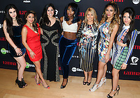 WEST HOLLYWOOD, CA, USA - NOVEMBER 13: Lauren Jauregui, Camila Cabello, Shirley Velasquez, Ally Brooke Hernandez, Ebby Antigua, Dinah Jane Hansen, Normani Hamilton, Fifth Harmony arrive at the Latina Magazine's '30 Under 30' Party held at SkyBar at the Mondrian Los Angeles on November 13, 2014 in West Hollywood, California, United States. (Photo by Xavier Collin/Celebrity Monitor)