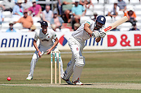 Alastair Cook hits 4 runs for Essex during Essex CCC vs Somerset CCC, Specsavers County Championship Division 1 Cricket at The Cloudfm County Ground on 25th June 2018