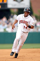 June 2, 2007:  Luis Matos of the Indianapolis Indians at Victory Field in Indianapolis, IN.  Photo by:  Chris Proctor/Four Seam Images