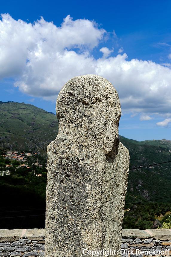 Menhire in Pieve, Korsika, Frankreich