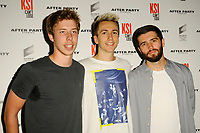 LONDON, ENGLAND - AUGUST 8: Calfreezy, Miniminter, Zerkaa attending 'KSI: Can't Lose' World Premiere at Picturehouse Central on August 8, 2018 in London, England.<br /> CAP/MAR<br /> &copy;MAR/Capital Pictures