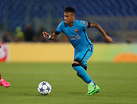 Barcellona's Neymar during the Champions League Group E soccer match against AS Roma  at the Olympic Stadium in Rome September 16, 2015