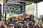SUNRISE, FL - DECEMBER 21: (L-R) Musicians Jake Roche, Lewi Morgan, Charley Bagnall and Danny Wilkin of the band Rixton performs at Y100's Jingle Ball Village, Y100's Jingle Ball 2014 official pre-show at BB&T Center on December 21, 2014 in Sunrise, Florida.  (Photo by Johnny Louis/jlnphotography.com)