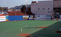 Ballparks: Portland Civic Stadium. 369' to right power alley, 407' to right center, 399' to left center.