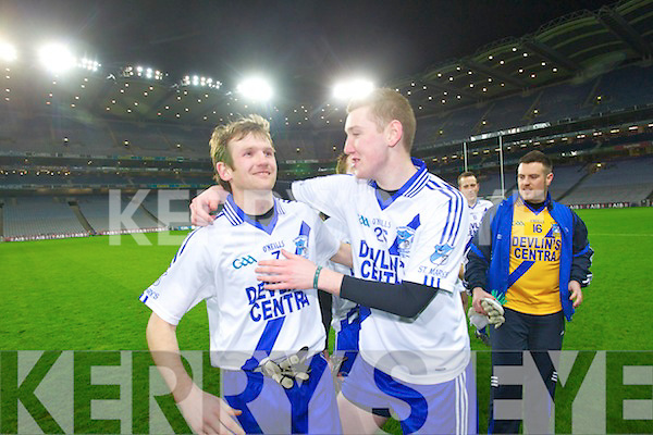 Players from Saint Mary's, Cahersiveen, Celebrate after defeating Saint Mary's, Swanlinbar in the All Ireland Junior Club Championship at Croke park on Saturday evening.