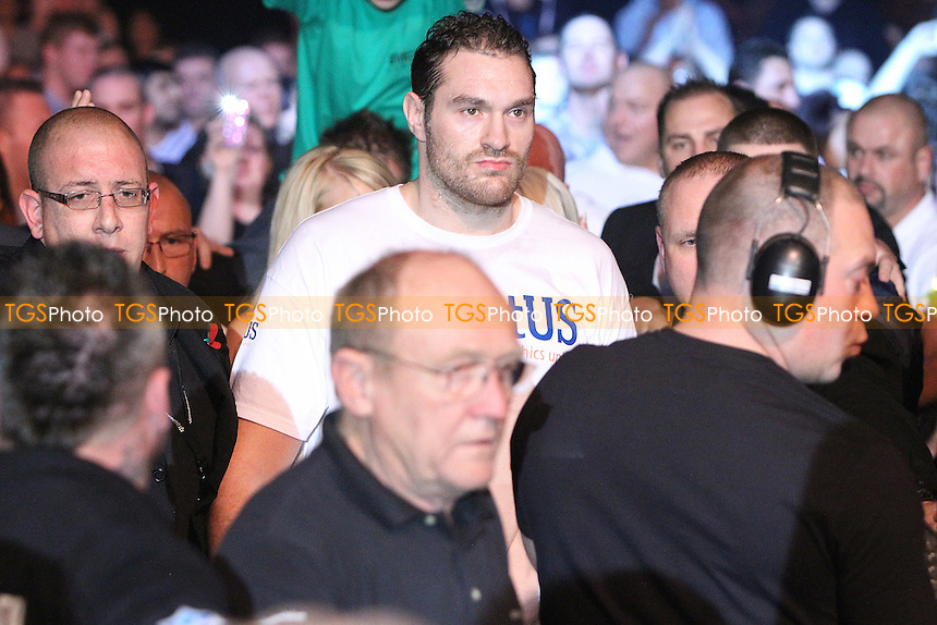 Tyson Fury making his entrance to face Neven Pajkic  in a boxing contest at EventCity, Trafford Park, Manchester, promoted by Hennessy Sports - 12/11/11 - MANDATORY CREDIT: Chris Royle/TGSPHOTO - Self billing applies where appropriate - 0845 094 6026 - contact@tgsphoto.co.uk - NO UNPAID USE..