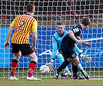 Ross County's Craig Curran beats Partick Thistle keeper Paul Gallacher for the opening goal