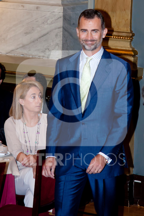 "DELIVERY OF THE IX EDITION OF THE ""LUIS CARANDELL"" PARLIAMENTARY JOURNALISM AT THE HANDS OF THE PRINCES OF ASTURIAS . July 24, 2013. (ALTERPHOTOS/Adrian P. Rincon)<br /> Prince Felipe of Asturias"
