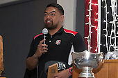 B's Red Most Improved Player of the Year Lepetimalo Lauese. Counties Manukau Rugby Unions Senior Prize giving held at ECOLight Stadium Pukekohe on Wednesday November 2nd, 2016.<br /> Photo by Richard Spranger.