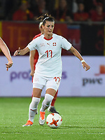 20181005 - LEUVEN , BELGIUM : Switzerland's Florijana Ismaili   pictured during the female soccer game between the Belgian Red Flames and Switzerland , the first leg in the semi finals play offs for qualification for the World Championship in France 2019, Friday 5 th october 2018 at OHL Stadion Den Dreef in Leuven , Belgium. PHOTO SPORTPIX.BE | DIRK VUYLSTEKE