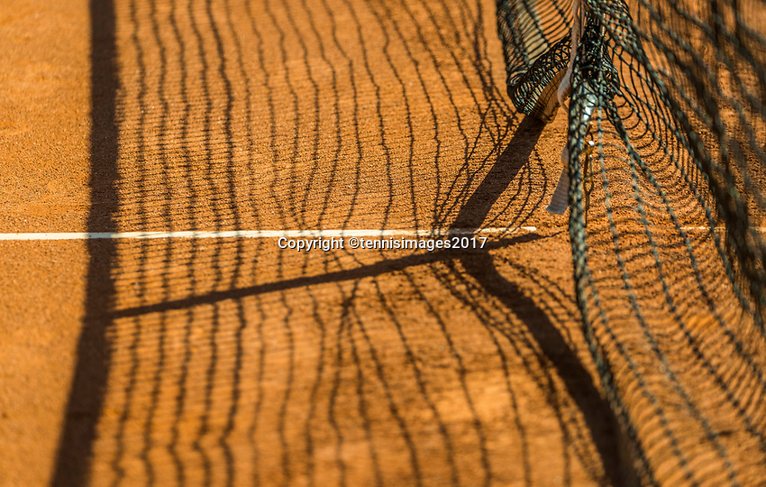 The Hague, Netherlands, 11 June, 2017, Tennis, Play-Offs Competition, Tennisnet with shadow<br /> Photo: Henk Koster/tennisimages.com