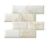 "3"" x 6"" Bricks shown in pillowed and honed Cloud Nine are part of New Ravenna's Studio Line of ready to ship mosaics."