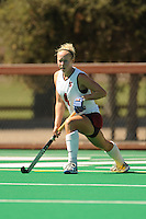 Stanford, CA - SEPTEMBER 27:  Midfielder Jaimee Erickson #4 of the Stanford Cardinal during Stanford's 7-0 win against the Pacific Tigers on September 27, 2008 at the Varsity Field Hockey Turf in Stanford, California.